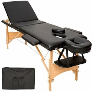 Mobile Massageliege Holz