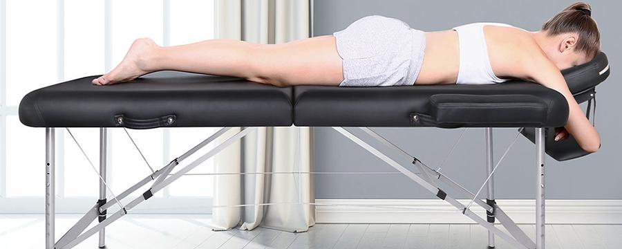 Best- & Topseller - Naipo Massageliege klappbar - 2 Zonen mobil