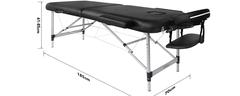Massageliege 70 cm breit - klappbar & mobil - Alu - Naipo